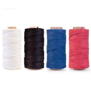 cordón algodón pulido y encerado