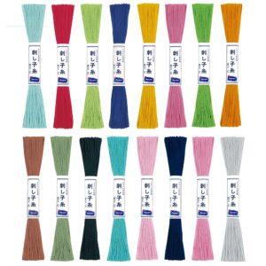 Hilo algodón bordado Sashiko colores
