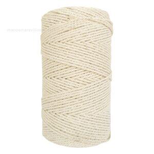 Cordón algodón 2 mm. 3 cabos