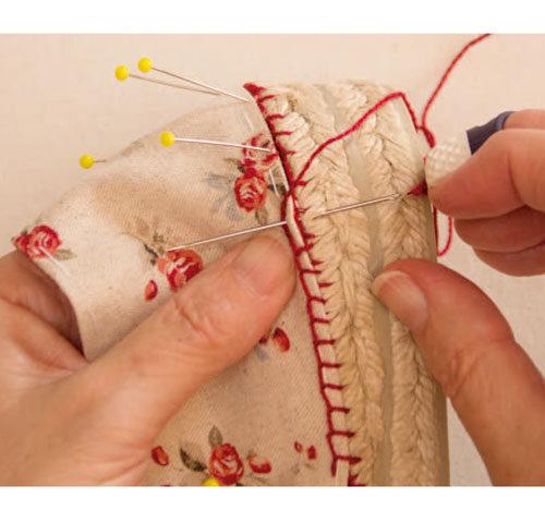 coser alpargatas con punto de feston