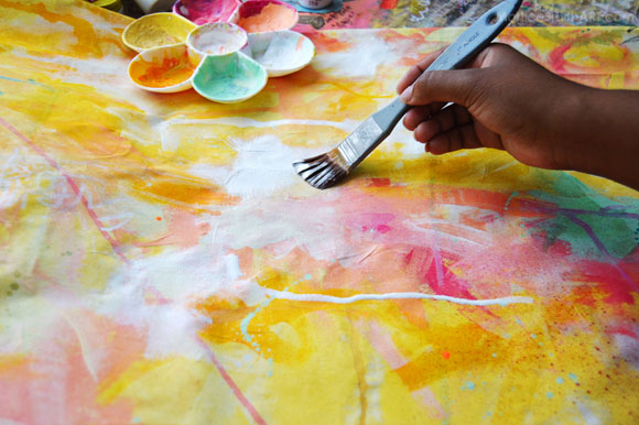 Pintar tela: técnicas e ideas