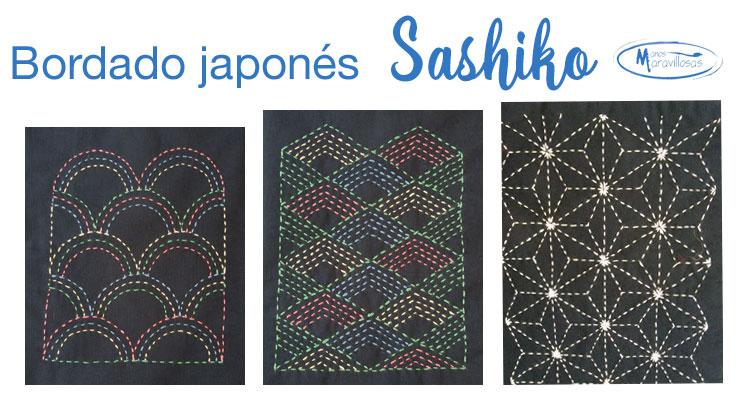 Materiales para bordar sashiko : hilo, tela, aguja, dedal ….