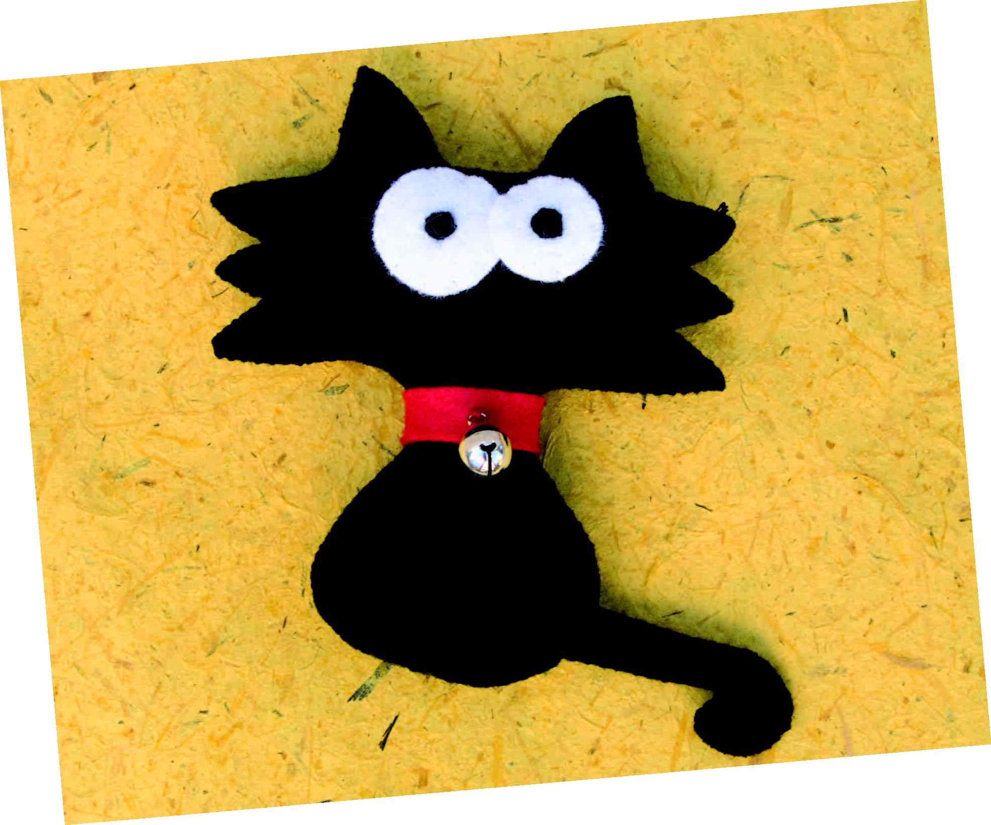 Gato Negro de Fieltro