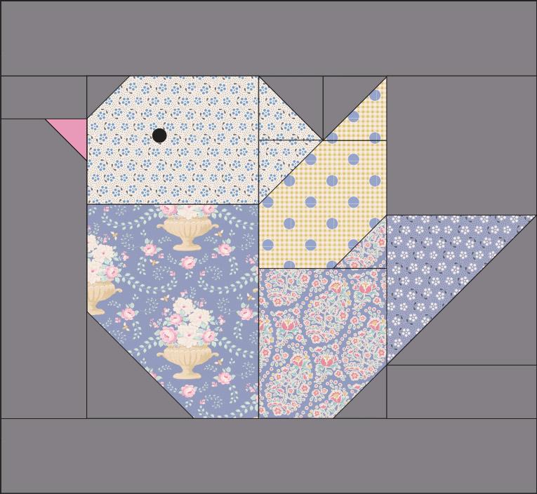 Técnica de patchwork: Piecing paper
