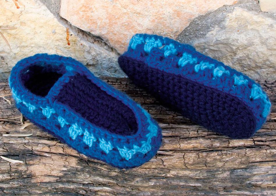 Zapatillas de ganchillo para días de frio