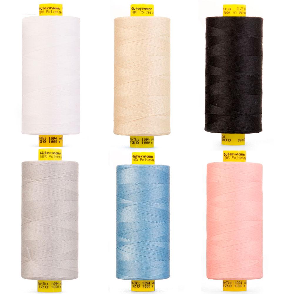 800 blanco 100/% de coser todo el hilo de coser Gutermann 2t250//WHT 250 m