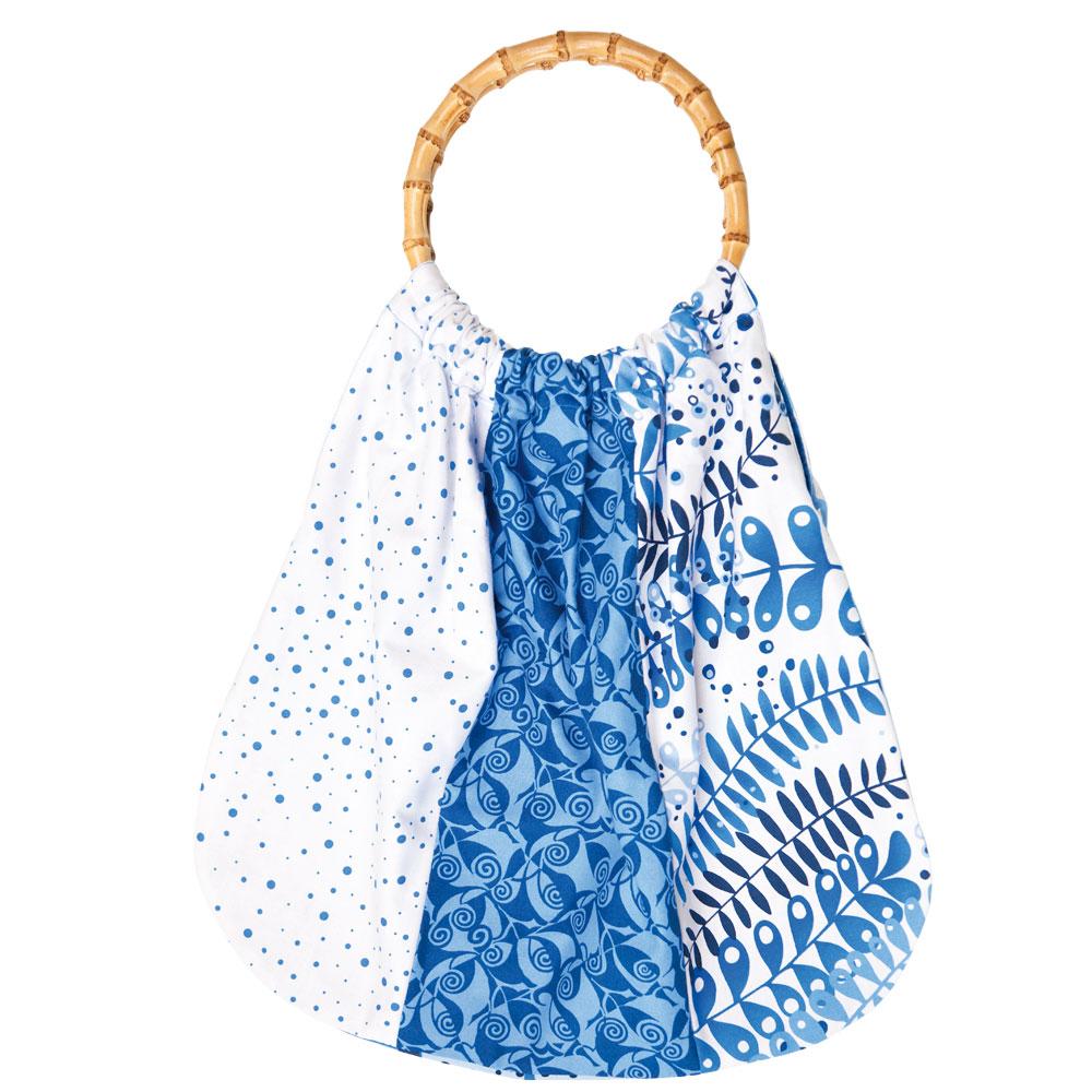 Bolso de verano con telas estampadas