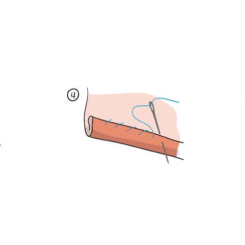 Cómo coser un dobladillo a mano