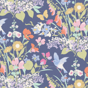 Tela tilda Gardenlife-Blue