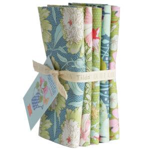 Pack de 5 Fat Quarter Bundle Green Sag